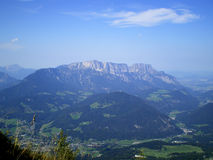 Vista del Untersberg fotografia stock libera da diritti