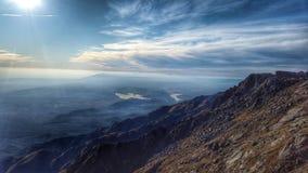 Vista del valey de la montaña superior Imagen de archivo libre de regalías