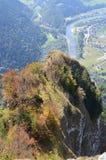 Vista del valey en las montañas de Pieniny en Polonia en agosto de 2012 Imágenes de archivo libres de regalías