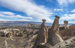 Vista del valle de Capadocia Turquía Foto de archivo libre de regalías