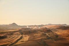 Vista del valle de géiseres imagenes de archivo