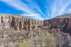 Vista del valle de Ihlara Turquía Imagenes de archivo