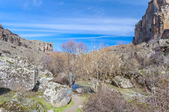 Vista del valle de Ihlara Turquía Fotografía de archivo libre de regalías