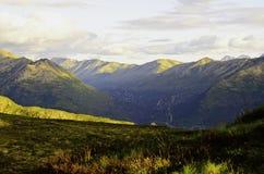 Vista del valle de la montaña Imagen de archivo