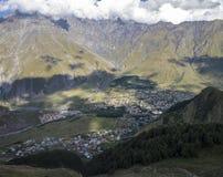 Vista del valle de la montaña Imagenes de archivo