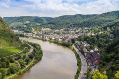 Vista del valle de Mosela Imágenes de archivo libres de regalías