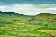 Vista del valle de Orkhon Imagen de archivo libre de regalías
