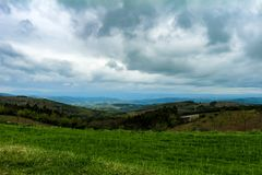 Vista del valle fértil foto de archivo