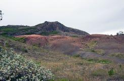 Vista del valle Haukadalur, Islandia imágenes de archivo libres de regalías