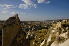 Vista del valle del sur de Cappadocia foto de archivo