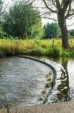 Vista del vertedero en Eynesford, Ken Imagenes de archivo
