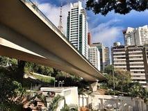 Vista del viale di São Paulo 9 de julho Fotografia Stock