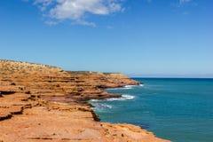 vista del vicolo del vaso nel parco nazionale di Kalbarri, con la bella Australia occidentale delle nuvole immagini stock