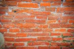 Vista del viejo modelo sucio de la pared de ladrillo Ladrillo envejecido rojo abstracto b fotografía de archivo