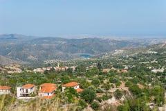 Vista del villaggio Immagine Stock