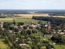 Vista del villaggio Immagini Stock