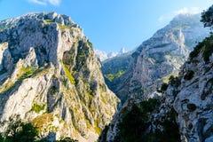 Vista del villaggio in Asturie Immagini Stock Libere da Diritti