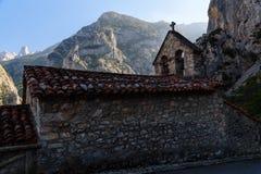 Vista del villaggio in Asturie Fotografia Stock Libera da Diritti