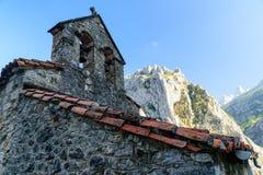 Vista del villaggio in Asturie Immagine Stock