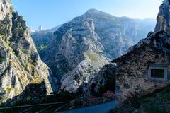 Vista del villaggio in Asturie Immagini Stock