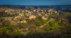 Vista del villaggio cipriota Fotografie Stock Libere da Diritti