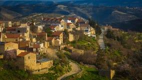 Vista del villaggio cipriota Fotografia Stock