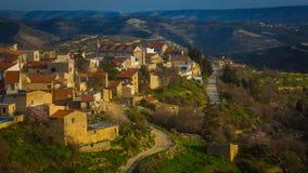 Vista del villaggio cipriota Immagini Stock