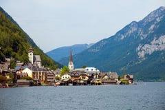 Vista del villaggio di Hallstatt Immagine Stock Libera da Diritti