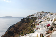 Vista del villaggio di Imerovigli Santorini fotografia stock