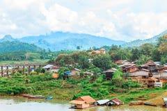 Vista del villaggio di lunedì Immagine Stock