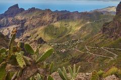 Vista del villaggio di Masca, Tenerife, isole Canarie Immagini Stock