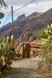 Vista del villaggio di Masca, Tenerife, isole Canarie Fotografia Stock