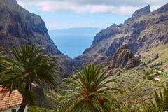 Vista del villaggio di Masca, Tenerife, isole Canarie, Spagna Fotografia Stock Libera da Diritti
