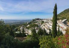 Vista del villaggio di Mijas immagine stock libera da diritti