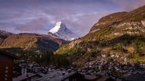 Vista del villaggio di Zermatt Immagine Stock Libera da Diritti