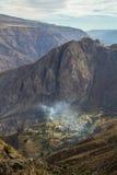 Vista del villaggio Huarhua Immagini Stock Libere da Diritti