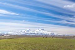 Vista del volcán de Hasandag Turquía Fotografía de archivo libre de regalías