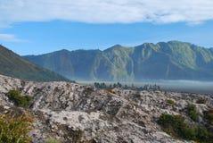 Vista del volcán del bromo en Indonesia Imágenes de archivo libres de regalías