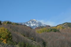 Vista del vulcano dell'Etna Fotografia Stock