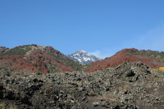 Vista del vulcano dell'Etna Fotografie Stock