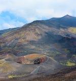 Vista del vulcano di Etna, Sicilia, Italia Fotografie Stock