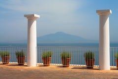 Vista del vulcano il Vesuvio Fotografie Stock Libere da Diritti