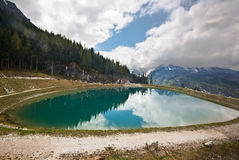 Vista del Watzmann in alpi bavaresi Fotografia Stock