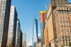 Vista del World Trade Center di nuovo Immagini Stock