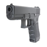 Vista delantera cercana de la arma de mano Foto de archivo