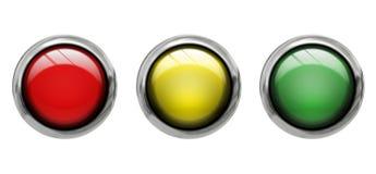 Vista delantera coloreada de los botones Imágenes de archivo libres de regalías