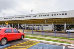 Vista delantera de Aeroporto Internacional de Campo Grande Foto de archivo libre de regalías