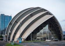 Vista delantera de Clyde Auditorium, Glasgow Fotos de archivo
