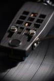 Vista delantera de jugar del disco de vinilo Foto de archivo libre de regalías