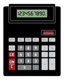Vista delantera de la calculadora básica Imágenes de archivo libres de regalías